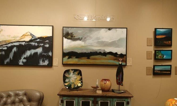 Carol Meckling paintings at Pagosa Springs gallery
