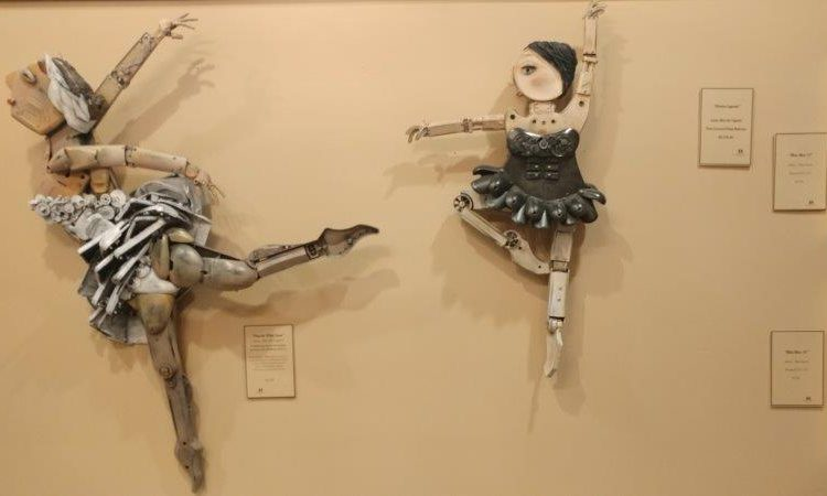 ballet dancers mixed media