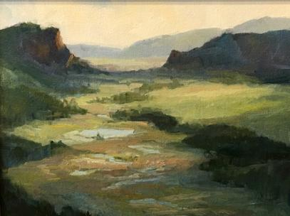 Amy Evans at Two Old Crows art gallery in Pagosa Springs