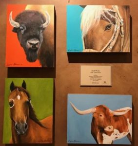 Debra Ferrari painter at Pagosa Springs art gallery