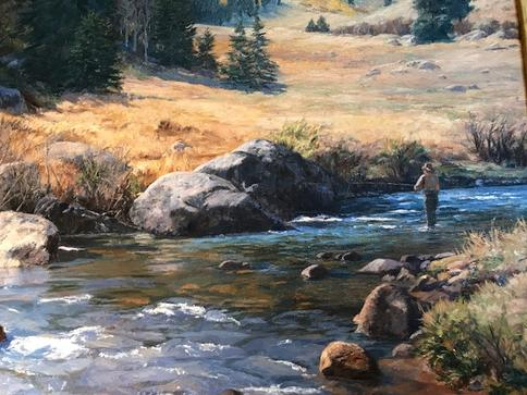 Claire Goldrick paintings at Pagosa Springs art gallery