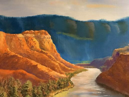 Sam Cassidy painting at Pagosa Springs art gallery
