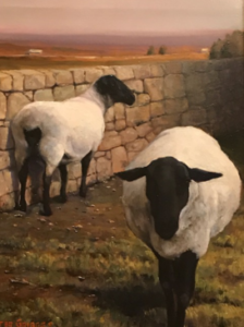 Sheep painting by Buster Griggs