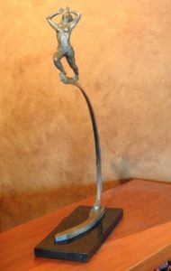 Donna merchant-crooks bronze art