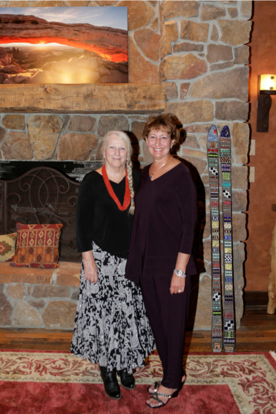 Pat and Evelyn at Two Old Crows fine art gallery in Pagosa Springs
