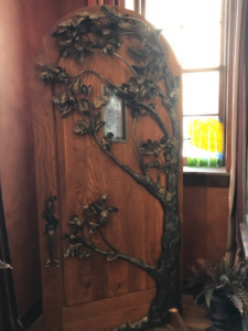 Mike Selinsky wood and metal entry door