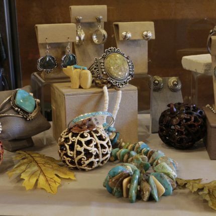 custom jewelry pieces at Two Old Crows gallery in Pagosa Springs