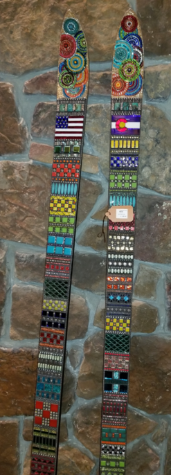 art skis by Yvonne Rowell and Jennifer Robinson